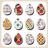 Easter eggs retro pattern — Stockvektor