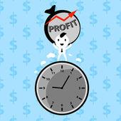 Businessman making profit — Stock Vector