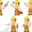 Strong Construction Worker Mascot — Stock Vector #52574269