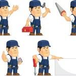 Strong Mechanic Mascot 11 — Stock Vector #52574799