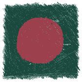 Flag of Bangladesh, handmade, square shape — Stock Vector