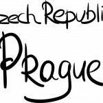 Czech Republic, Prague, hand-lettered — Stock Vector #69753453