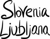 Slovenia, Ljubljana, hand-lettered  — Stock Vector
