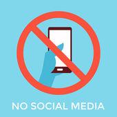 No social media — Stock Vector