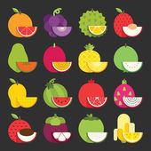Tropical fruit icon — Stock Vector
