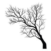Trees with dead branch — Stock Vector