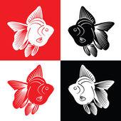 Fish Silhouette — Stock Vector