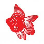 Silueta de pez — Vector de stock