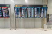 Departure information monitor at Suvanaphumi Airport ,Bangkok,Thailand — Stock Photo