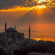 Ayasofya or Hagia Sophia, a former Orthodox patriarchal basilica, later a mosque and now a museum in Istanbul, Turkey — Stock Photo #70788909