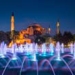 Ayasofya or Hagia Sophia, a former Orthodox patriarchal basilica, later a mosque and now a museum in Istanbul, Turkey — Stock Photo #70789079