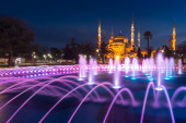Blue Mosque during twilight time, Istanbul, Turkey — 图库照片