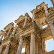 Ruins of the library of Celsus in Ephesus Turkey,. Ephesus contains the ancient largest collection of Roman ruins in the eastern Mediterranean. — Stock Photo #77515840