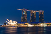 The Marina Bay Sands Resort Hotel on July 09, 2015 in Singapore. — Stock Photo