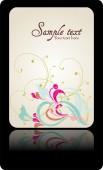 Hochzeit Einladung Karte Suite mit Gänseblümchen-Blume — Stockvektor