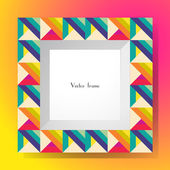 Picture frame isolated on colorful background. Perfect for your presentations or creation. Vector illustration — Stock Vector