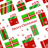 Presents pattern for chtistmas time — Stock Photo