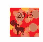 Chinese Year of the Goat 2015 — Stockvektor