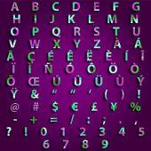 Complete Set Typography Triangle Vector Design — Stock Vector