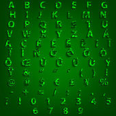 Typography Complete Alphabet Set Triangle Vector Design — Vector de stock