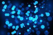 Soyut mavi bokeh — Stok Vektör