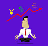 Guru of exchange rates — Stock Vector