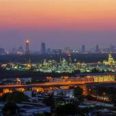Landscape of oil refinery  — Stock Photo