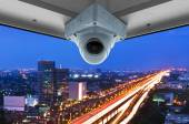 CCTV and traffic on flyovers in the city. — Stock Photo