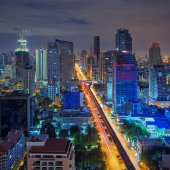 Views of Bangkok Residential district — Stock Photo