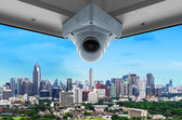 CCTV and city view — Stock Photo