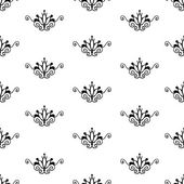Seamless abstract black & white pattern — Vettoriale Stock