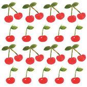 Cherry pattern 1 — Stock Vector