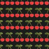 Cherry pattern 4 — Stock Vector