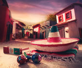 Mexican fiesta background — Stock Photo