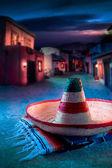 """Mexican hat """"sombrero"""" on a """"serape"""" — Stock Photo"""