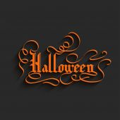 Halloween lettering Greeting Card — Stock Vector