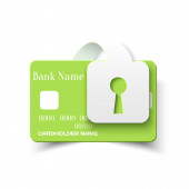Credit Card Protection Concept Icon — Stock Vector