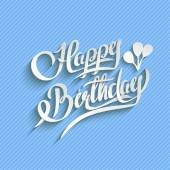 Happy Birthday Lettering Greeting Card — 图库矢量图片