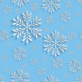 Abstract 3d Seamless Pattern with Snowflakes — Vettoriale Stock