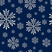 Abstract 3d Seamless Pattern with Snowflakes — 图库矢量图片