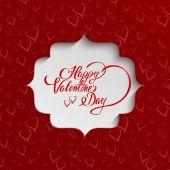 Happy Valentinstag-Grußkarte — Stockvektor