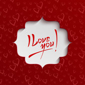 I Love You - Valentines Day Greeting Card — Vettoriale Stock