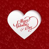Feliz día de san valentín tarjeta de felicitación — Vector de stock