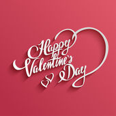 Happy Valentines Day lettering Greeting Card — Stock Vector