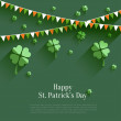 Happy St Patricks Day - gratulationskort i platt stil, modernt designelement — Stockvektor  #68505899