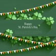 Happy St Patricks Day - gratulationskort i platt stil, modernt designelement — Stockvektor  #68505901
