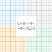 Vector graph millimeter paper seamless pattern set — Stock Vector