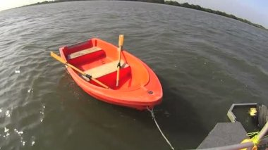 Dinghy Row Boat — Stock Video