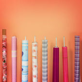 Set wrapping paper strung   — Stock Photo
