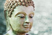 Buddha face by wax — Stock Photo